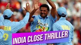India Close Thriller against New Zealand at Auckland 1st ODI 2002 Highlights