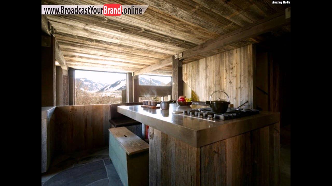 Rustikale Skihütte Küche Holzverkleidung