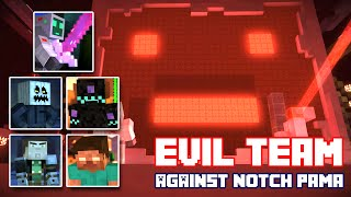 Play as Mini Pama! Minecraft Story Mode Episode 7 FULL Playthrough (Evil Team Theme)