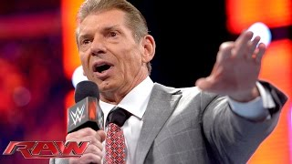 Mr. McMahon makes a surprise appearance: Raw, Nov. 3, 2014