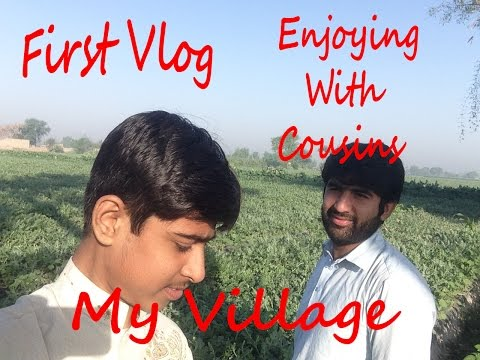 Vlog#1 My Village | Enjoying With Cousins | Our Water Melon