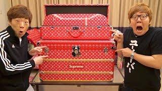 【1400万円】ルイ・ヴィトン × シュプリームのトランク&スケボー開封!【Louis Vuitton × Supreme Trunk】