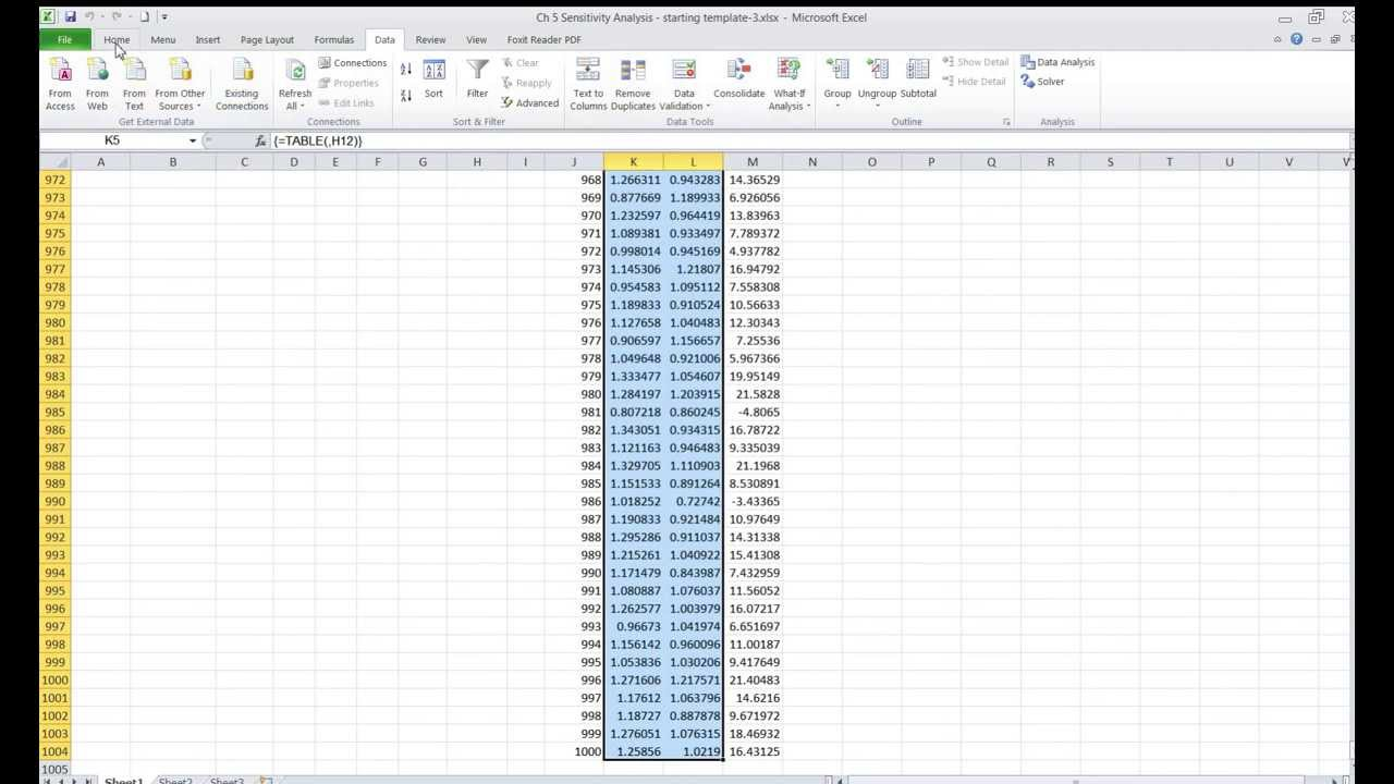 Excel Monte Carlo Analysis