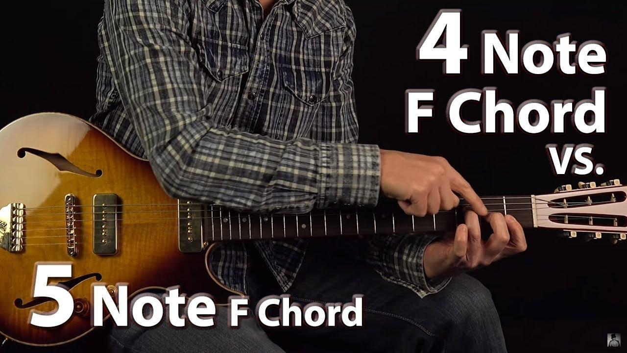 4 Note F Chord Vs 5 Note F Chord Youtube