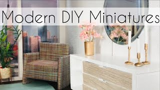 DIY Barbie Bedroom (How To Make Dollhouse Furniture)