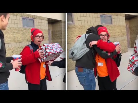 Theresa - Teen With Developmental Delays Gets Gift From Classmate: 'I Got Happy Tears