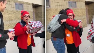 Teen With Developmental Delays Gets Gift From Classmate: 'I Got Happy Tears'