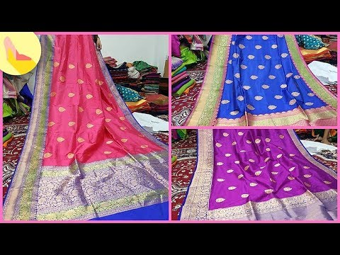 b89e073813 Handloom Banarasi Silk Sarees - YouTube