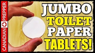 Amazing Invention Improved: GIANT Toilet Paper Tablets!