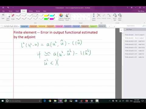 Lecture 16 Part 2: Adjoint-based error estimate in finite element II