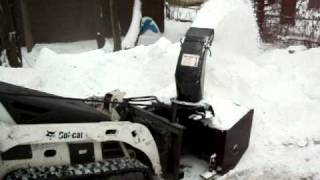 MT52 Bobcat Loftness snow blower in action!