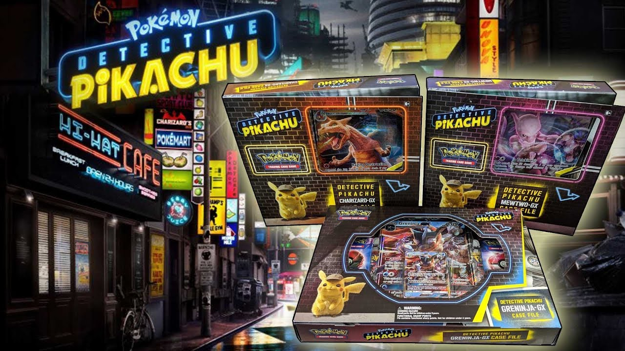Opening All Detective Pikachu Pokemon Card Boxes Case Files