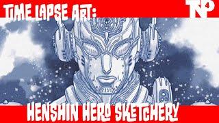 Tokusatsu Sketchery: Cyborg Hero Sketch