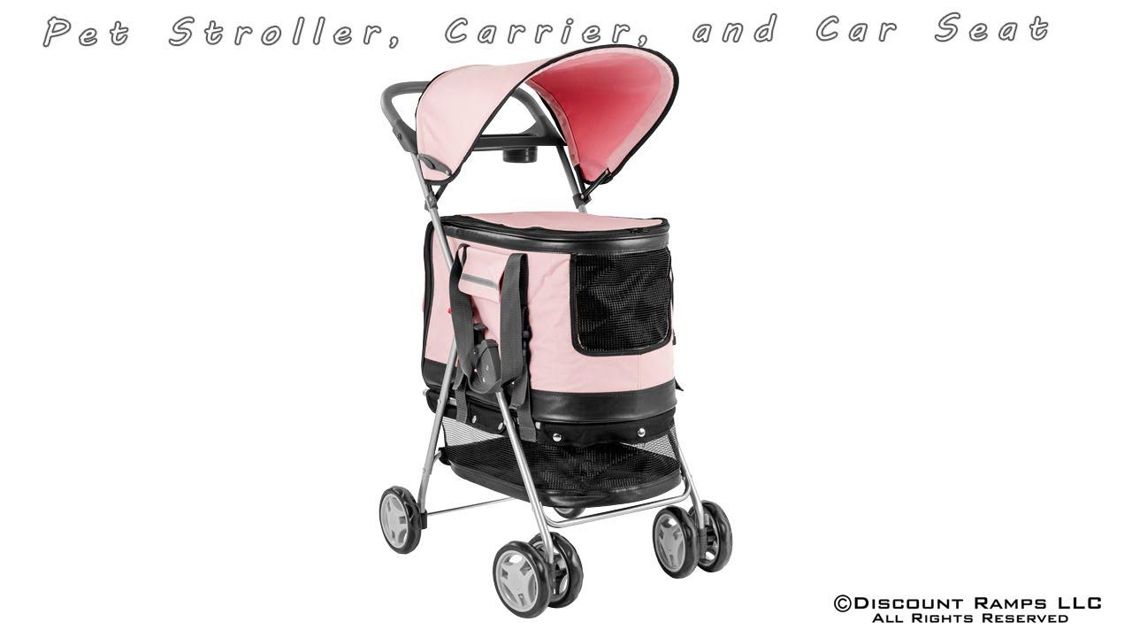 In  Pet Stroller Carrier Car Seat