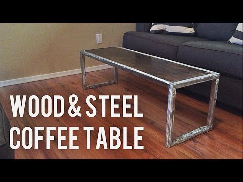 DIY Modern Coffee Table // Wood & Steel