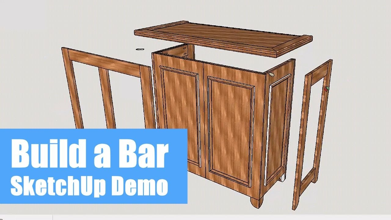 Building a Home Bar - SketchUp Demo - YouTube