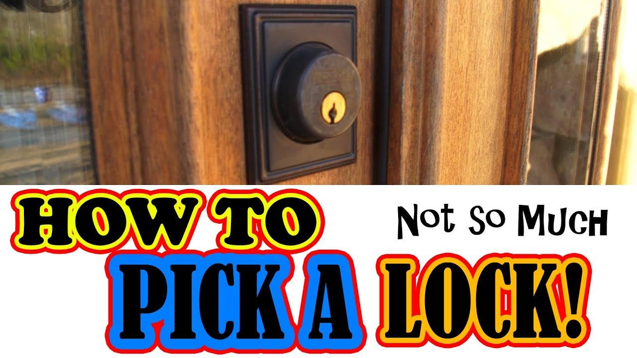 how to pick a lock not so much youtube. Black Bedroom Furniture Sets. Home Design Ideas