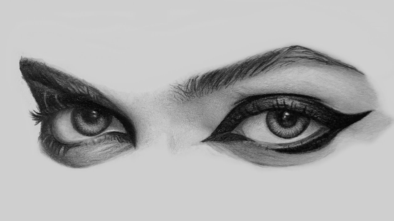 How to draw - PART 1 - Drawing Eyes, Pencil Drawing