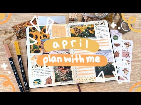 PLAN WITH ME | April 2020 Bullet Journal Set Up ✨