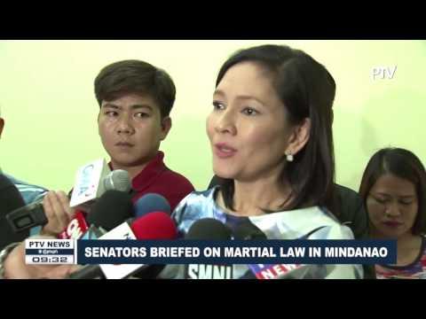 Senators briefed on Martial law in Mindanao
