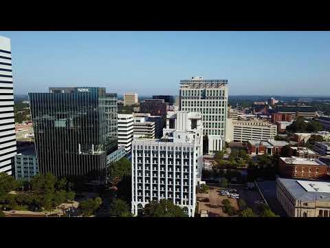 Columbia, South Carolina 4K drone footage