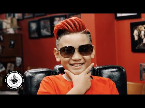 [Liem Barber Shop's Collection] Spider Man Tattoo Hair And Red Color For Dope Kid