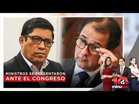 Ministros de Energía y de Economía se presentaron ante el Congreso - 10 minutos Edición Matinal