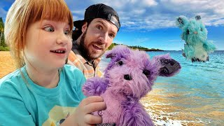 PET RESCUE on the BEACH!! Baby Mermaid Shell buried at pirate island, Adley & Niko take care of them