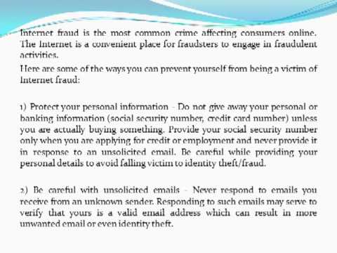Internet Fraud Protection