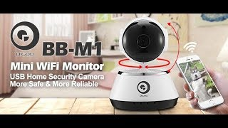DIGOO BB-M1 Wireless WiFi USB Baby Alarm Monitor Home Security IP Camera HD 720P Audio Onvif