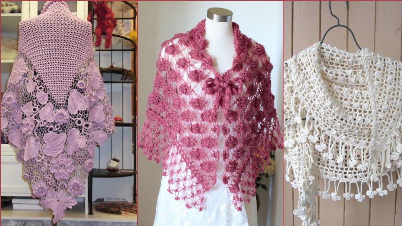 Latest trendy Crocheting Knitting fancy bridal caplets ...