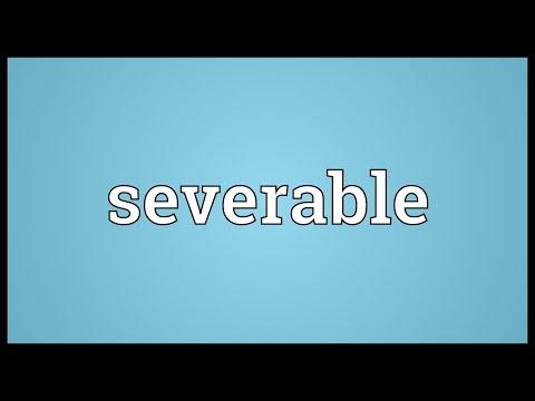 Header of severable