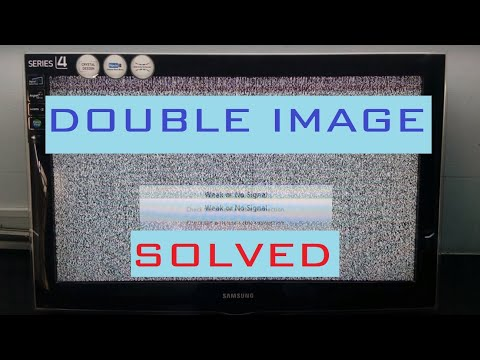 How To FIX DOUBLE IMAGE DISPLAY Problem  of Your LCD TV screen step by step repair