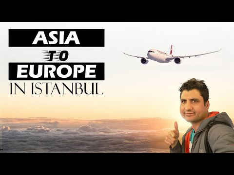 Asia to Europe in Istanbul || Sabiha Airport to Taksim Bus Ride
