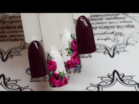 Малиновый дизайн ногтей 2018