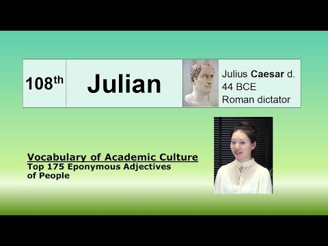 Julian -- Vocabulary of Academic Culture | Top 200 isms of famous people