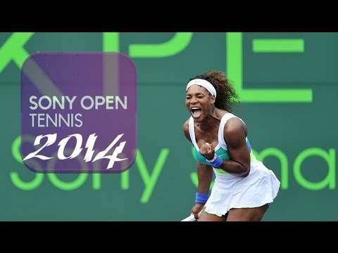 All 6 Of ♥Serena Williams♥--Miami *Sony Open*Title Winning Moments!