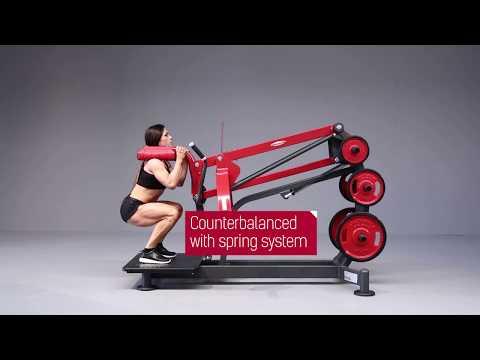 1HP591 - Squat machine with Oksana Grishina
