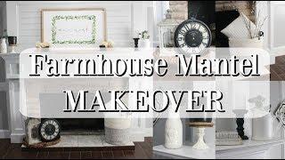 Farmhouse Mantel Makeover | Decorating Ideas 2019