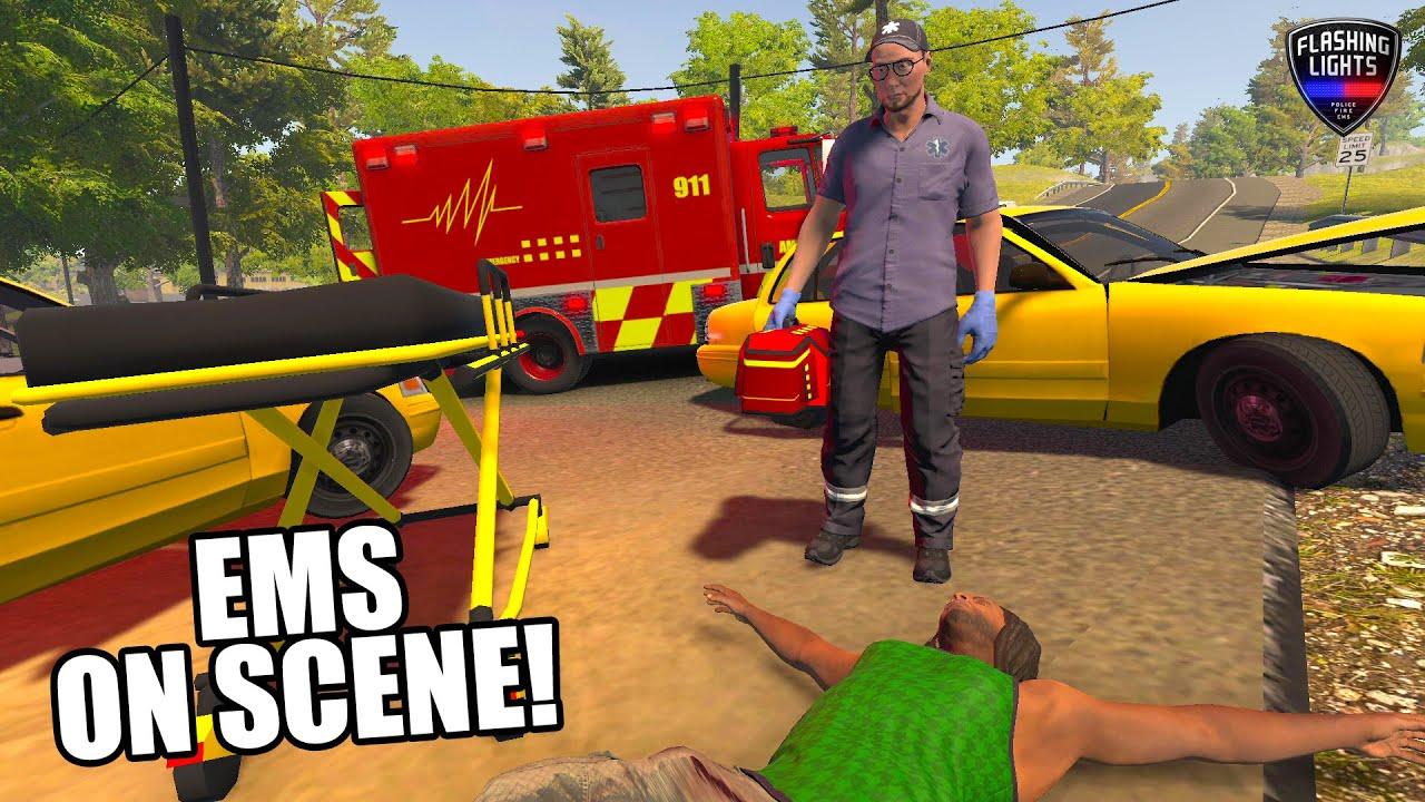 Paramedic Patrol Fl Ems Flashing Lights Game Youtube