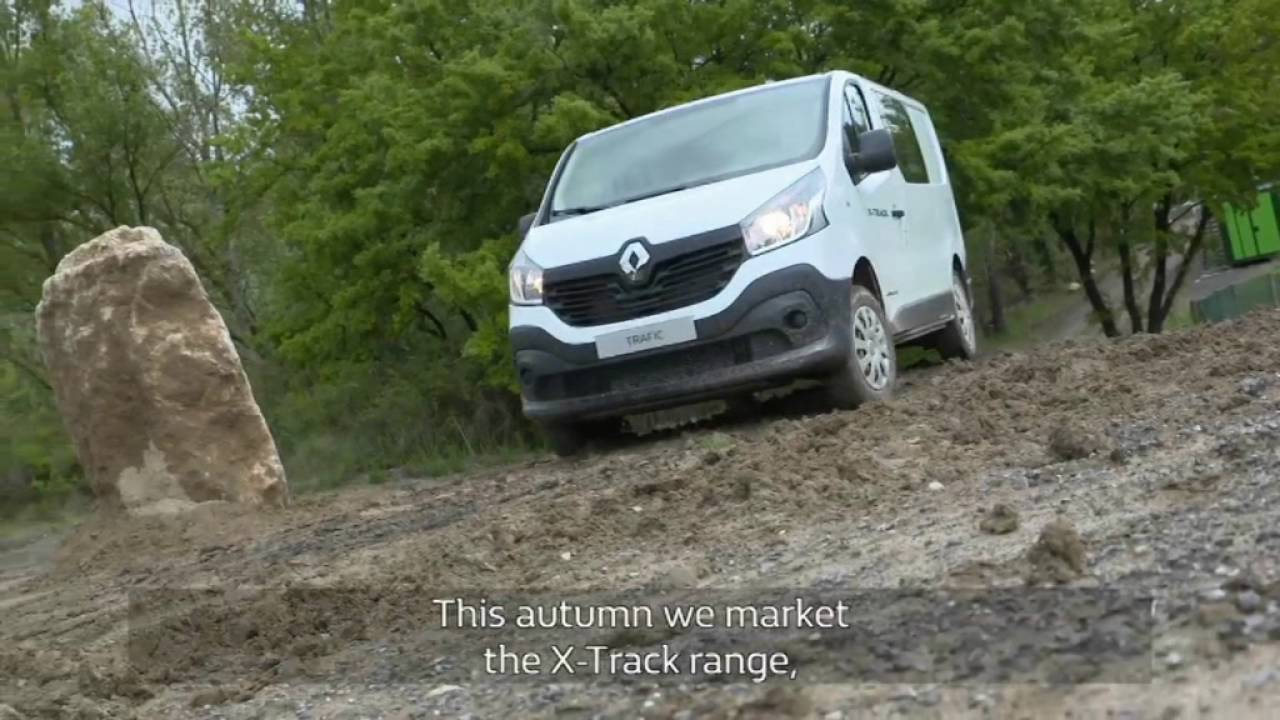 renault pro introduces renault x track and renault master 4x4 youtube. Black Bedroom Furniture Sets. Home Design Ideas