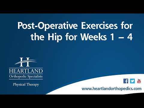 Post-Operative Exercises Weeks 1-4 for Total Hip Replacement
