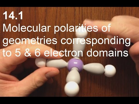 14.1 Molecular polarities of geometries corresponding to 5 and 6 electron domains [HL IB Chemistry]