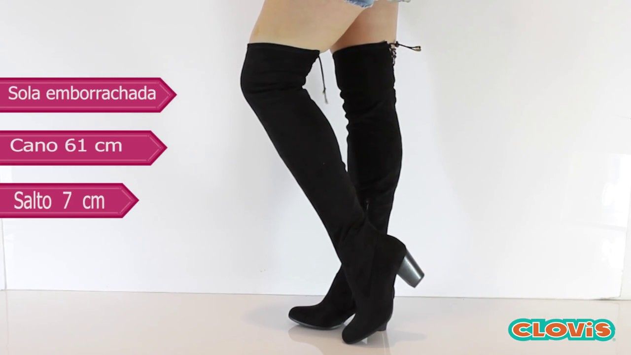 0a4e8fa380 Bota Feminina Over The Knee Preta - Via Marte - YouTube