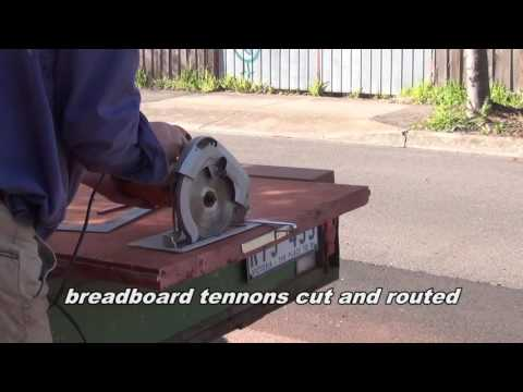 How to made a simple table with bread board ends and a secret drawer