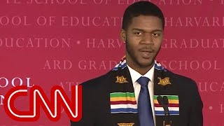 Harvard University has called 2016 graduate Donovan Livingston's sp...