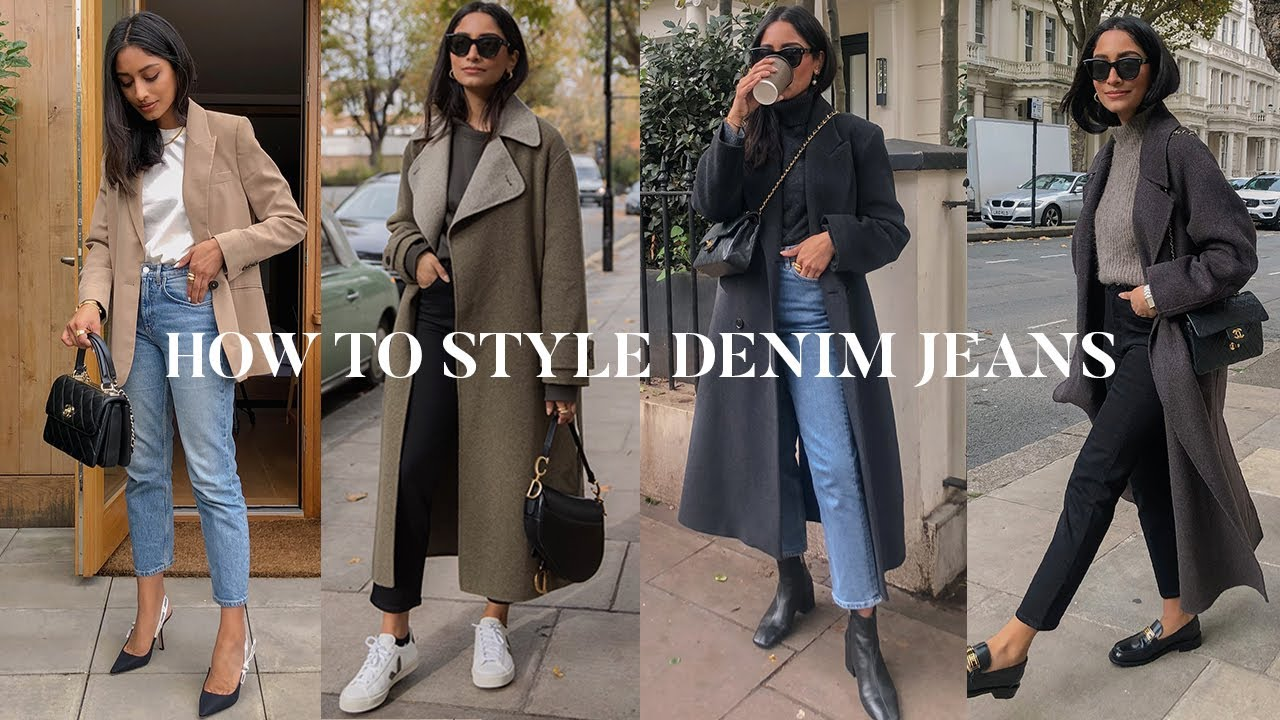 HOW TO STYLE DENIM JEANS FOR WINTER | LOOKBOOK