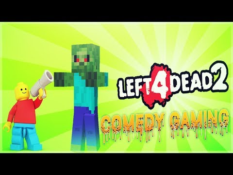 Left 4 Dead 2 - LEGO Meets Minecraft - Chicken Witches - Comedy Gaming
