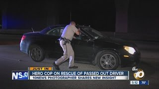 Hero cop on rescue of passed out driver