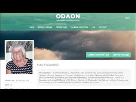 ODAON Obituary Notice